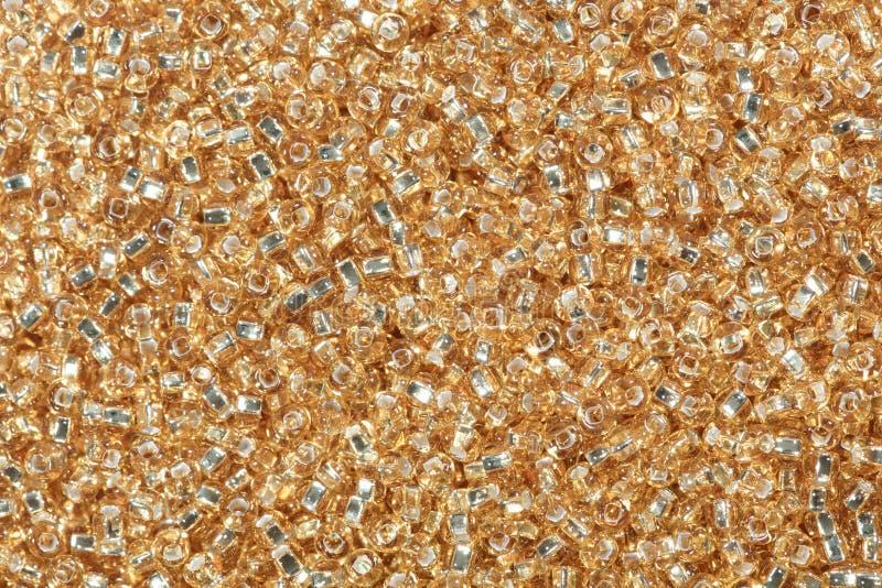 Close-up van zandige bruine zaadparels stock fotografie