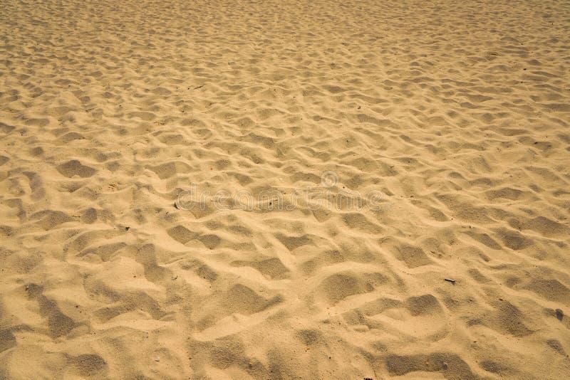 Close-up van zandpatroon van een strand in de zomer royalty-vrije stock fotografie
