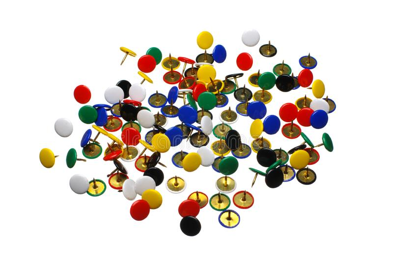 Download Close Up Of Various Pushpins Stock Image - Image of attach, colorful: 8937889