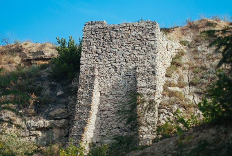 Close-up velho do fundo da textura da parede de pedra, exterior, foto de stock royalty free