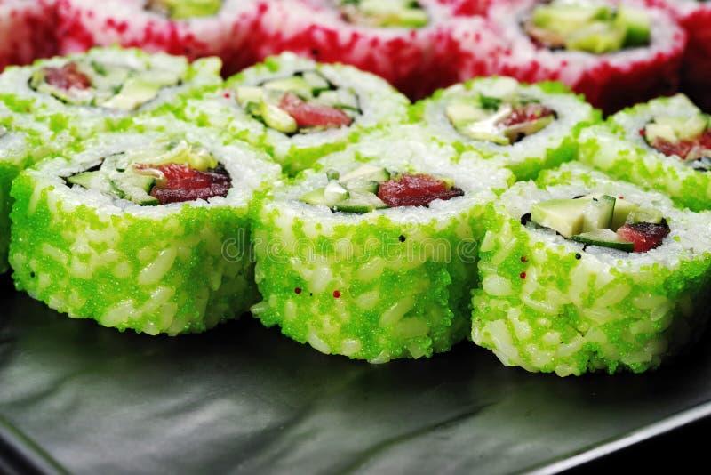 Close up verde do sushi fotos de stock royalty free