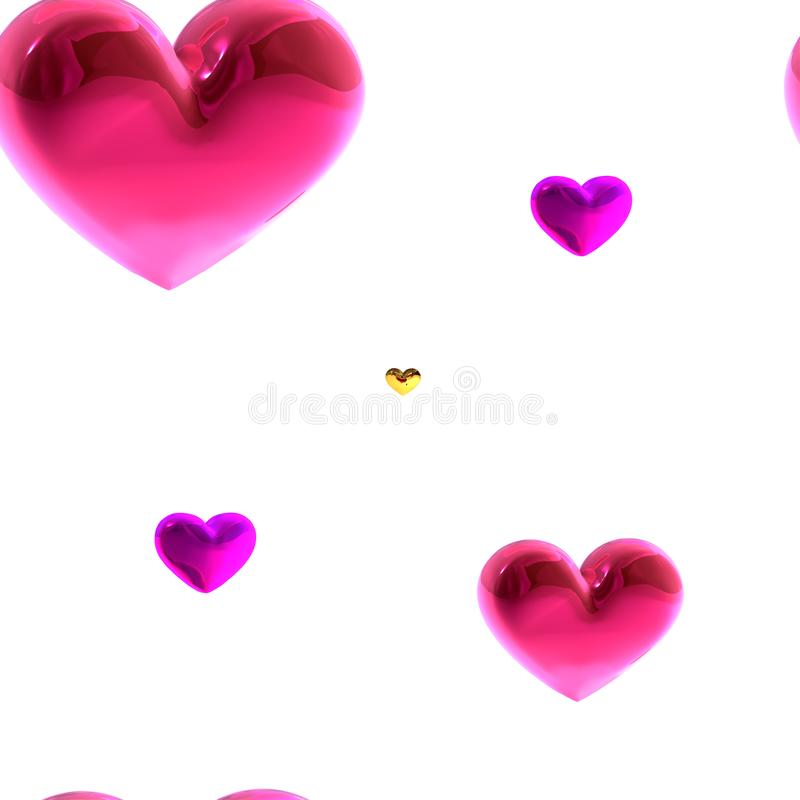 Close-up verse bos van roze pioenen, pioenbloemen Kaart, voor huwelijk royalty-vrije illustratie
