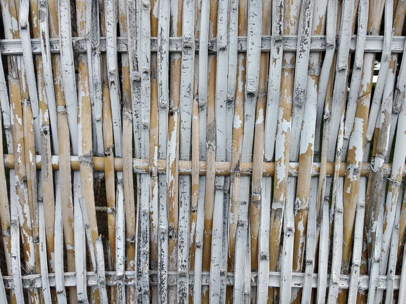 Old bamboo fence Vertical royalty free stock images
