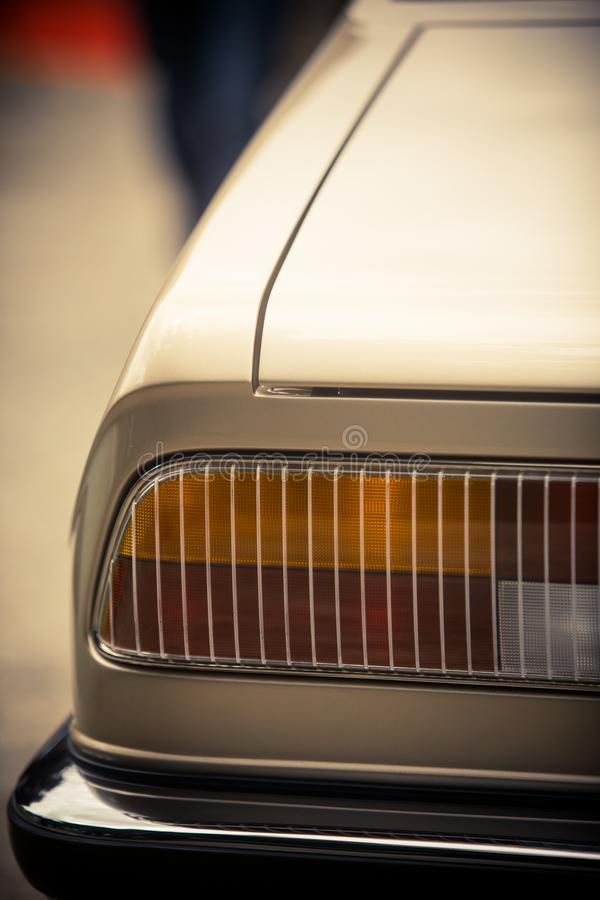 Tail light of a classical vintage car stock photo