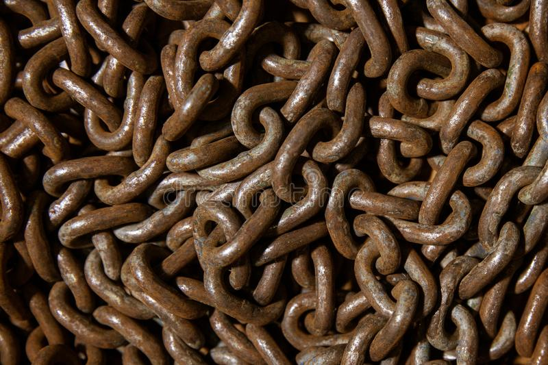 Close up of Very Rusty chain. Close up of Rusty chain texture background stock images