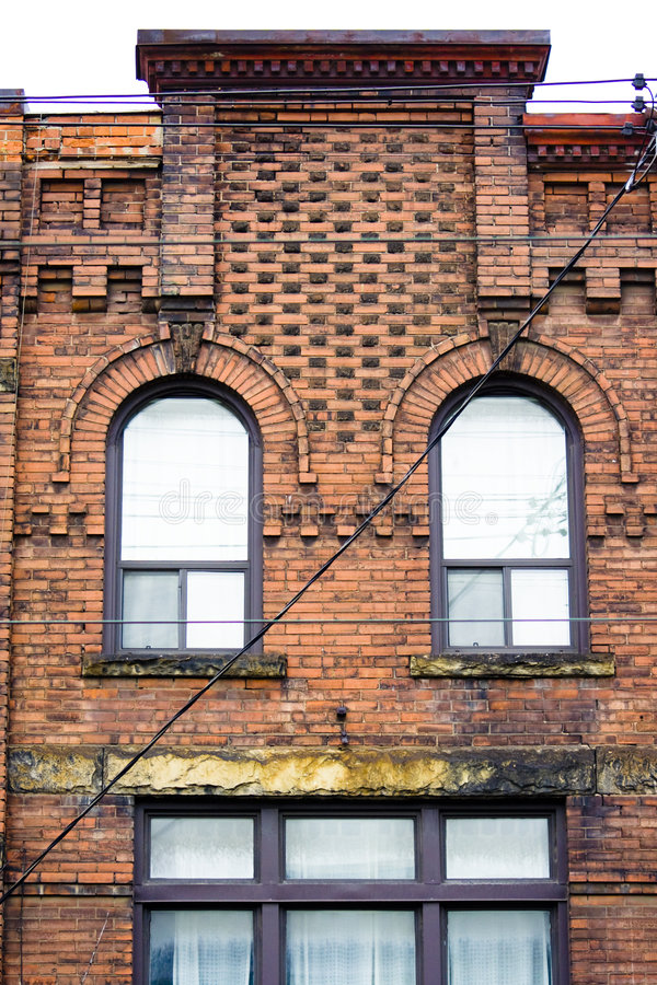 Close-up of Victorian style building royalty free stock photo
