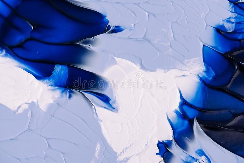 Abstract blue, grey and white painting background stock photography