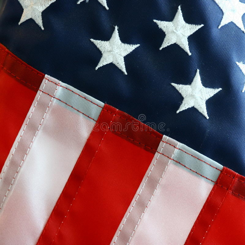 Close-up view of the American Flag stock photography