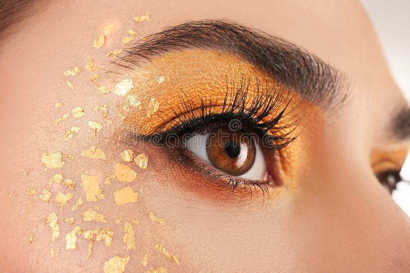 Close up view of beautiful woman royalty free stock photo