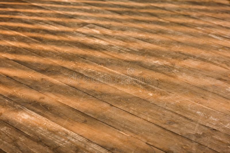 close up view of brown wooden floor stock photography