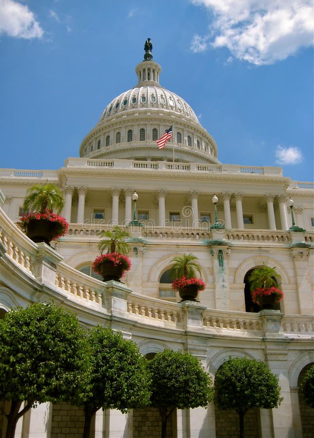Close up view of Capital Hill stock photo