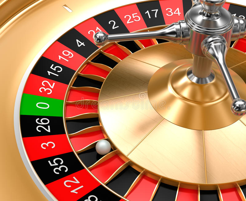 A close-up view of casino roulette. 3D image vector illustration