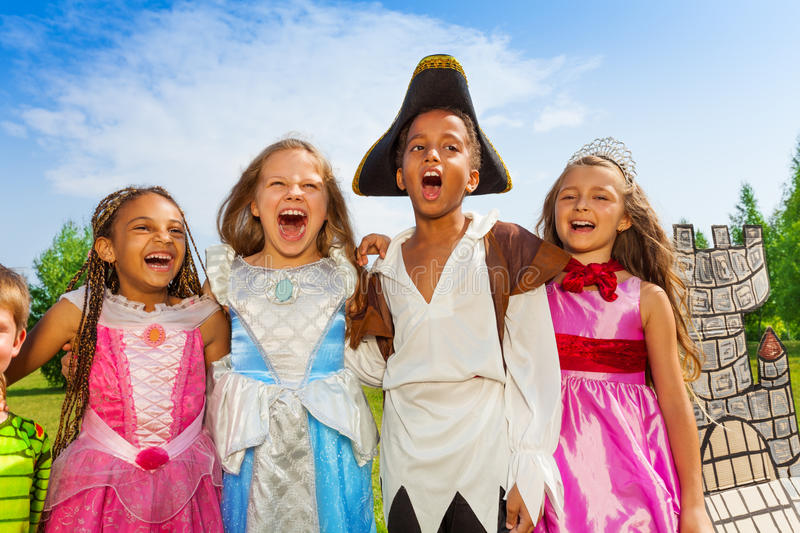 Download Close Up View Of Children In Festival Costumes Stock Photo - Image of lifestyle, diversity: 44815060