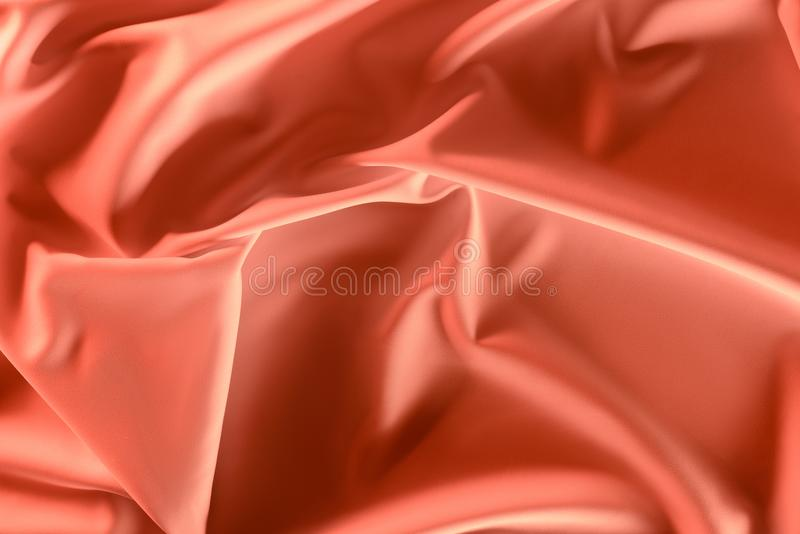 close up view of elegant pink silky fabric stock images