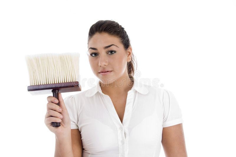 Download Close Up View Of Female Cleaner Stock Photo - Image: 7361146
