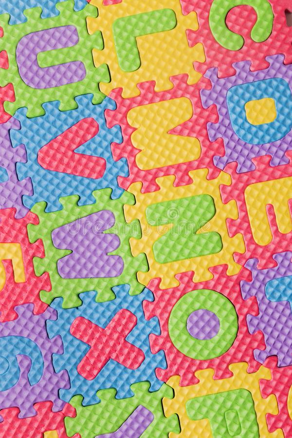 Foam puzzle letter uppercase stock photography