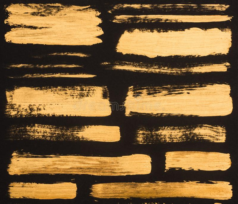 close up view of golden paint strokes royalty free stock image