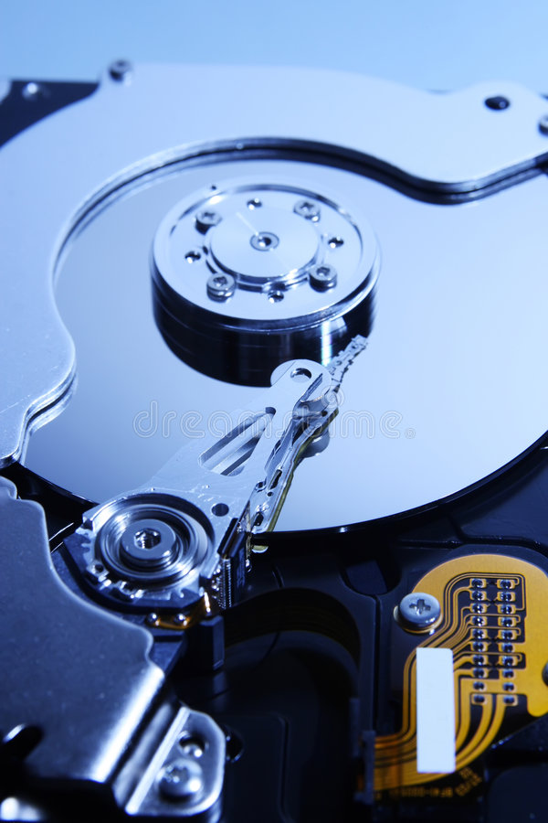 Close-up View Of The  Hard Disk Drive Royalty Free Stock Photos