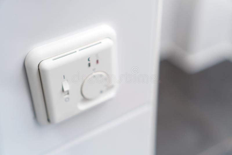 Heating floor thermostat stock images