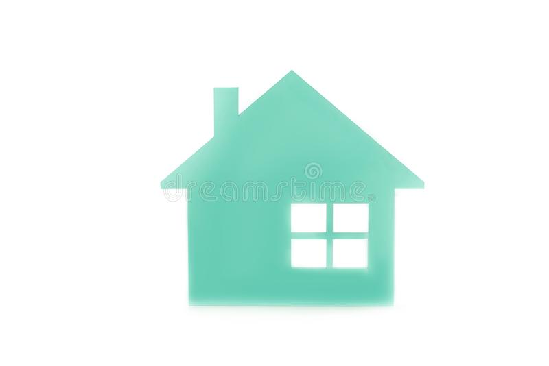 close up view of house model vector illustration
