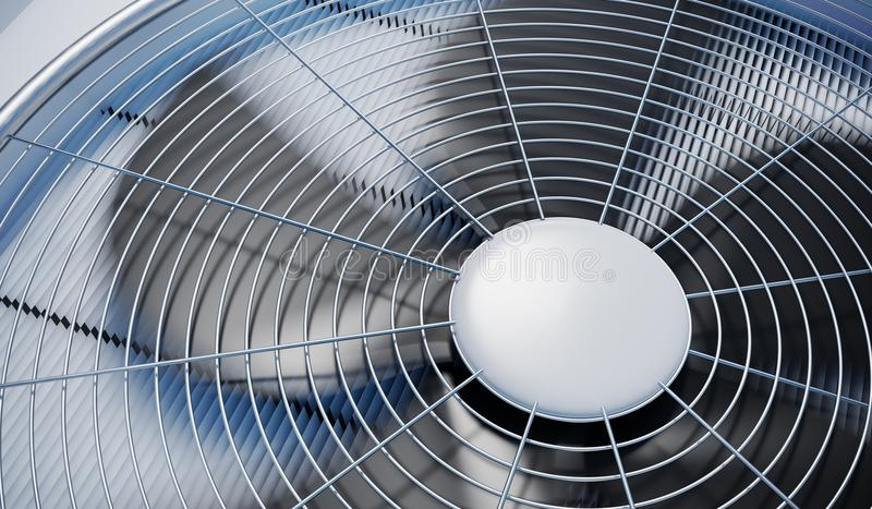 Close up view on HVAC units heating, ventilation and air conditioning. 3D rendered illustration royalty free illustration
