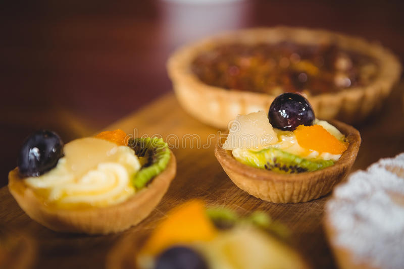 Close up view of little fruit pies royalty free stock image