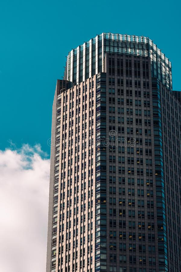 Close-up view of 383 Madison Avenue office building in Midtown Manhattan New York City royalty free stock photos