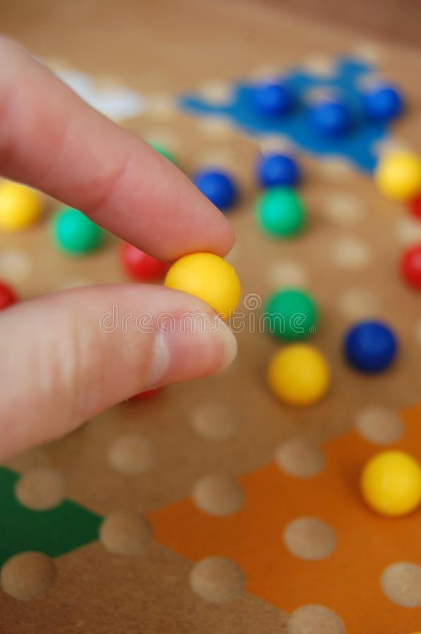 Chinese Checkers Board Game Fun royalty free stock photo