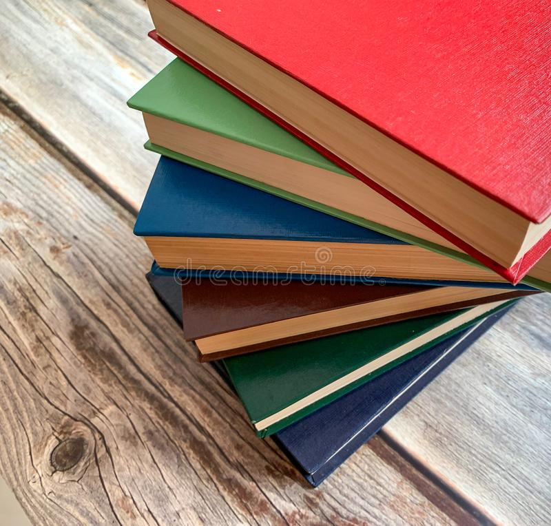 Close up view of novels like fan of chinese stock photos