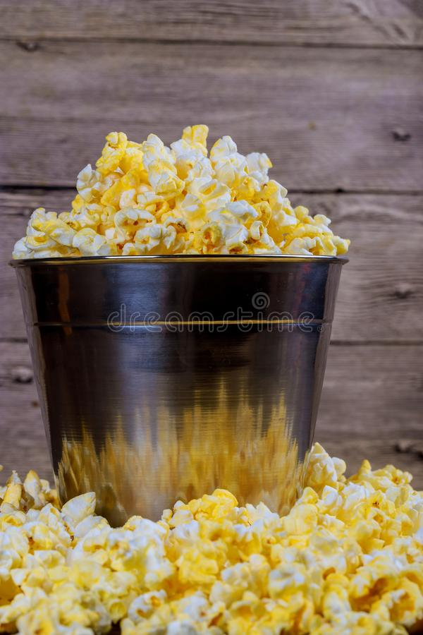 close up view of popcorn in bowls stock image