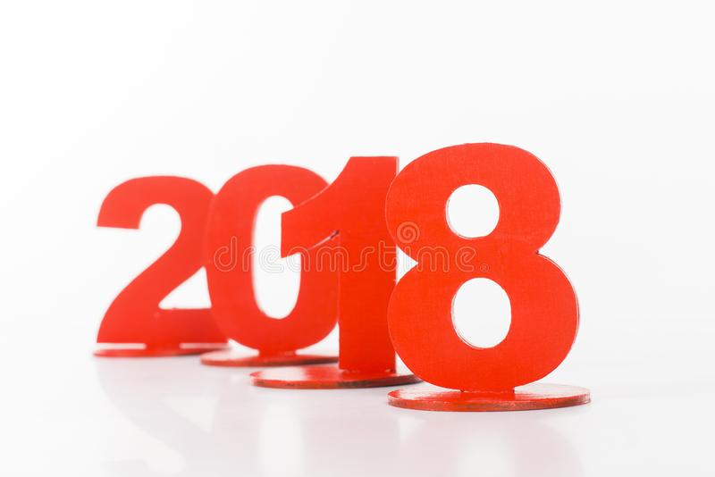 close up view of red 2018 sign stock illustration