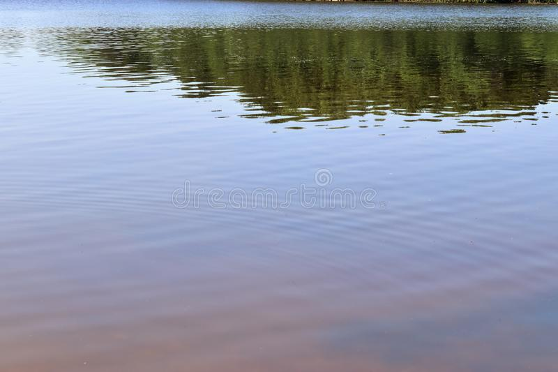 Close up view on a reflective water surface with waves and ripples in high resolution royalty free stock image