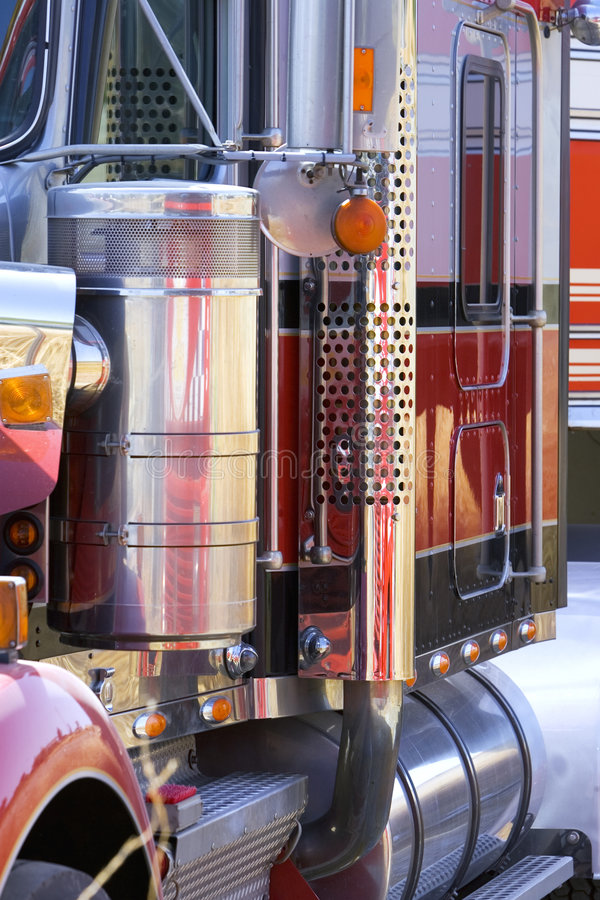Close up view of side of large truck of lorry royalty free stock images