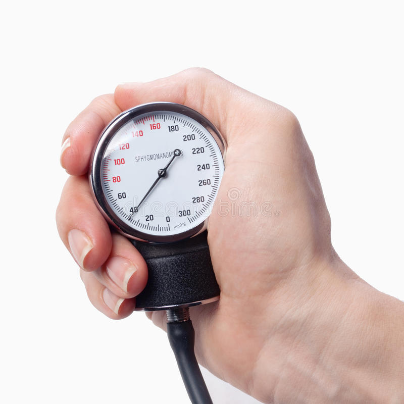 Close up view of a sphygmomanometer stock photography