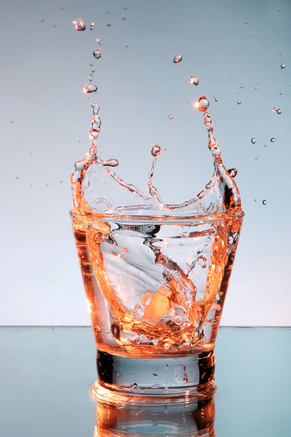 Close up view of the splash in water royalty free stock photo