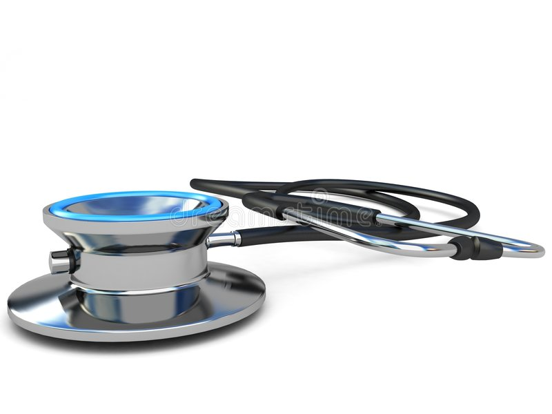 Close up view of stethoscope vector illustration
