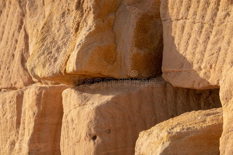 Close-up view of the stones used to build a pyramid in Sudan royalty free stock photo