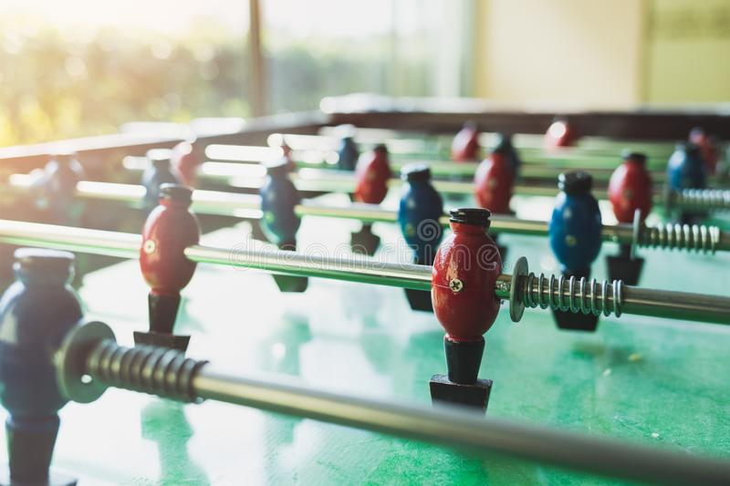 Close Up Of A Foosball Game Stock Photo Image Of Sports