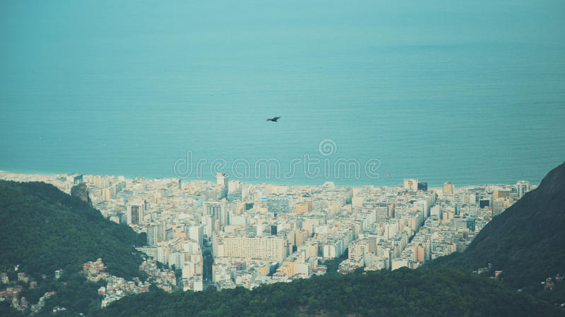 Close up view from top of Rio de Janeiro royalty free stock images