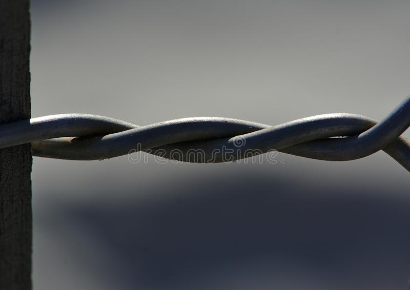 Close up view of twisted wires royalty free stock photos