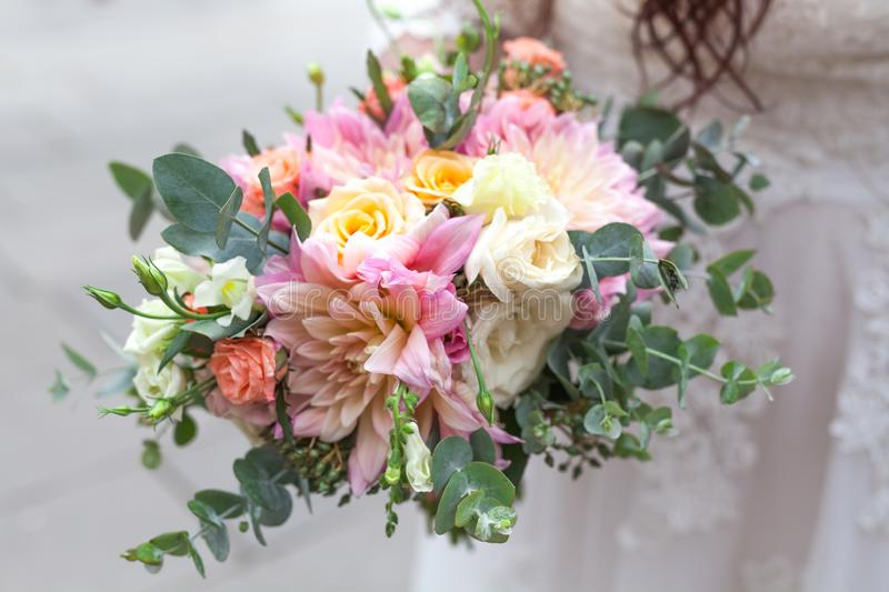 Close up view of wedding decoration on street stock photography