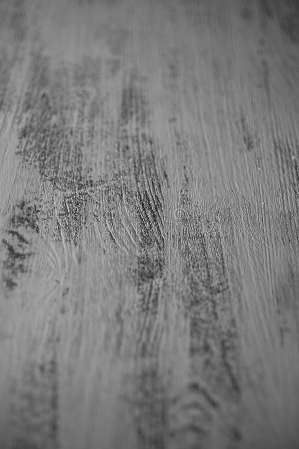Close up view of wooden background in black and white. Gray wood texture for design. Old rustic table. royalty free stock images