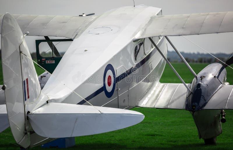 Close up of a vintage bi plane royalty free stock photos