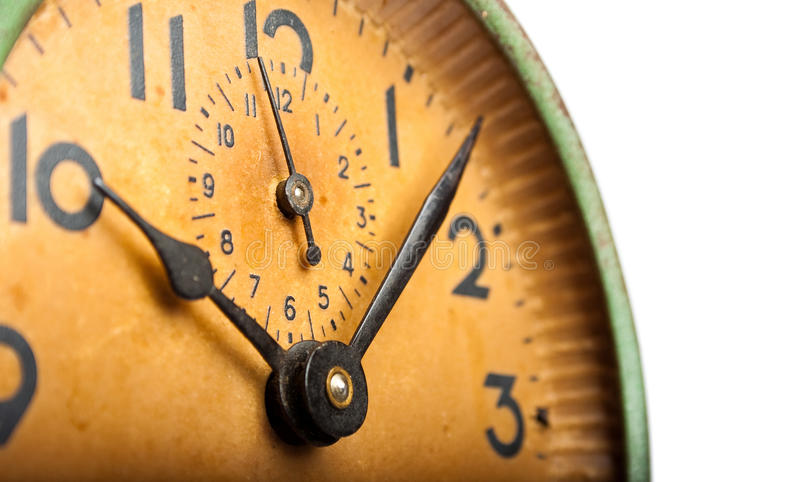 Close-up vintage clock royalty free stock photography