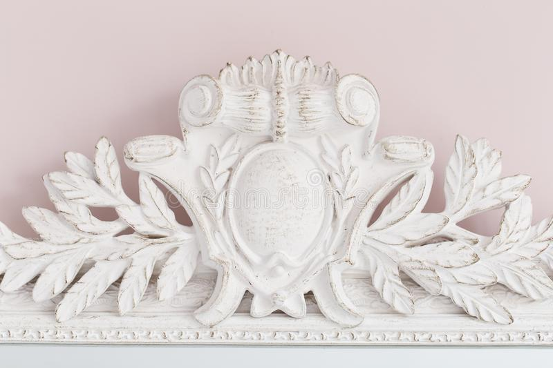 Close-up of a vintage mirror with decorative ornaments stock images