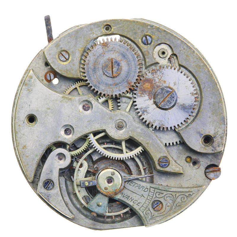 Download Close-up Of A Vintage Rusty Clock Stock Photo - Image: 25933122