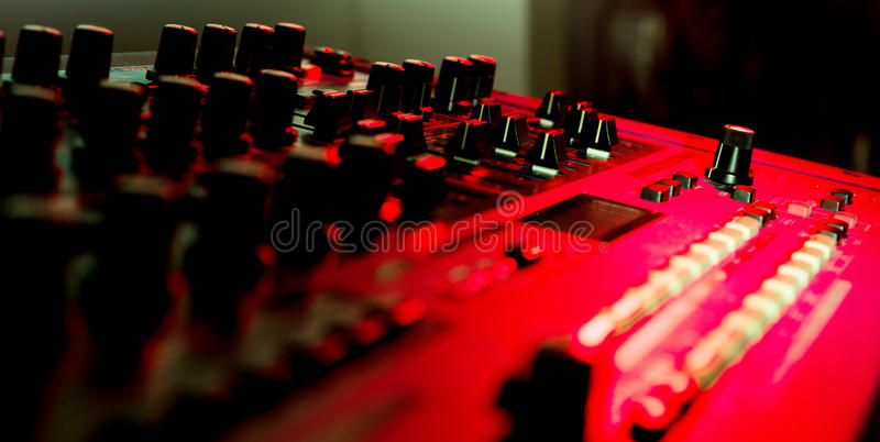 Close Up Of Vintage Synth Royalty Free Stock Photos