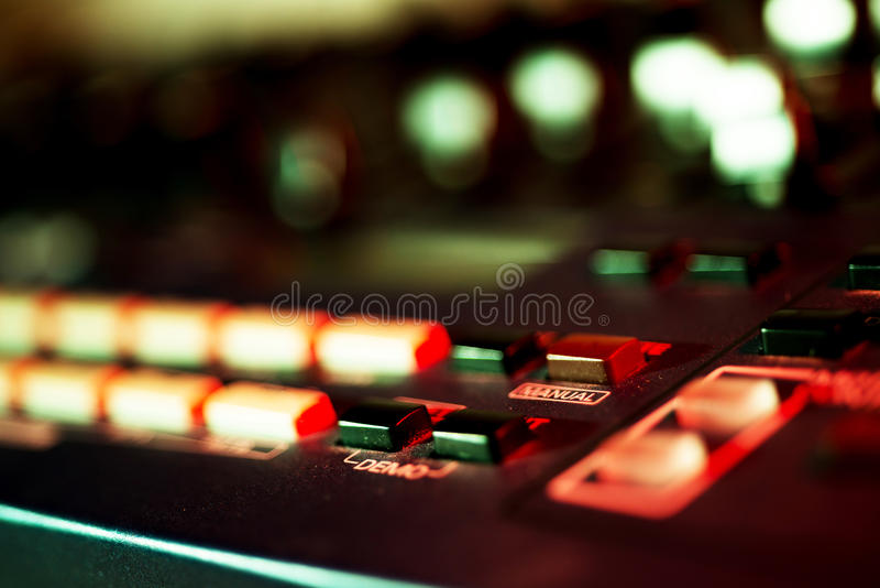 Close up of Vintage Synth royalty free stock photo