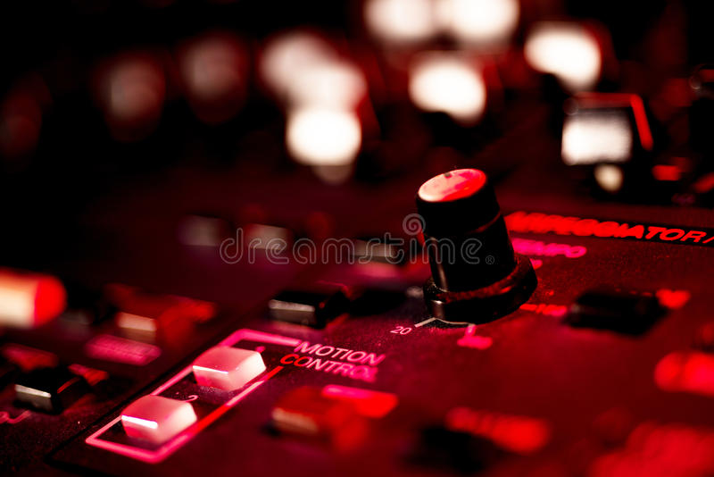Close up of Vintage Synth stock photo