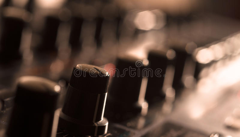 Close up of Vintage Synth royalty free stock images